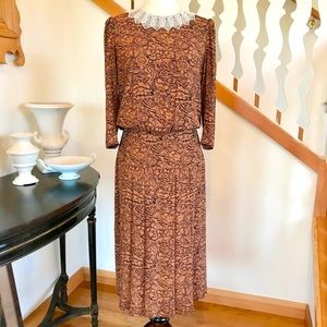 Vintage 80's William Morris Print Dress